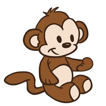 ilustración de dibujos animados pequeño mono