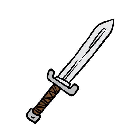 the roman empire: sword cartoon illustration