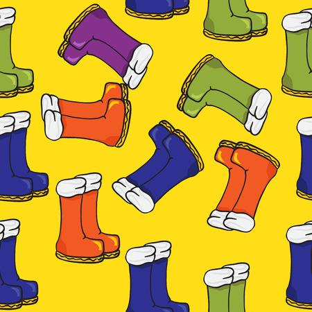 galoshes: bootsseamless  pattern Illustration