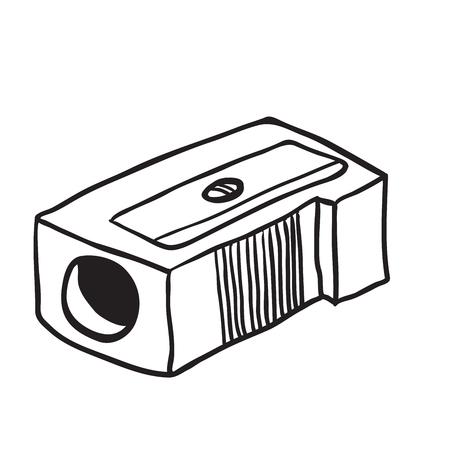 sacapuntas: historieta sencilla sacapuntas blanco y negro