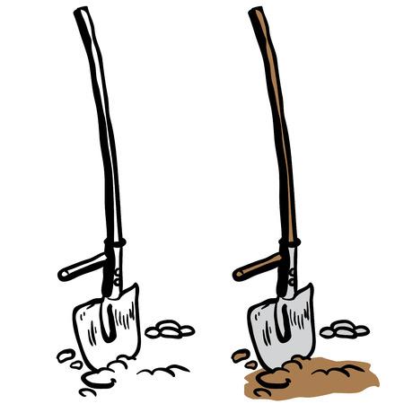 pruner: shovel cartoon illustration