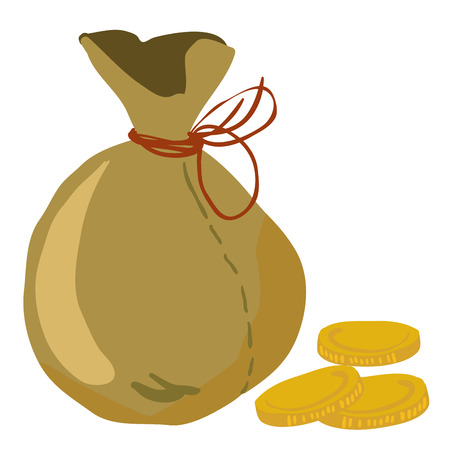 moneybag: moneybag with some coins