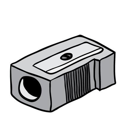 sacapuntas: lápiz bosquejo de dibujos animados afilador