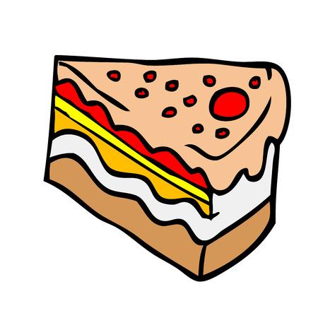piece of cake: pedazo de torta de dibujos animados