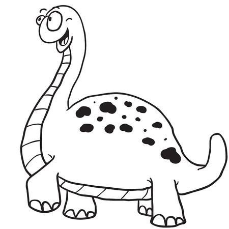 pettifogs: simple black and white dinosaur cartoon