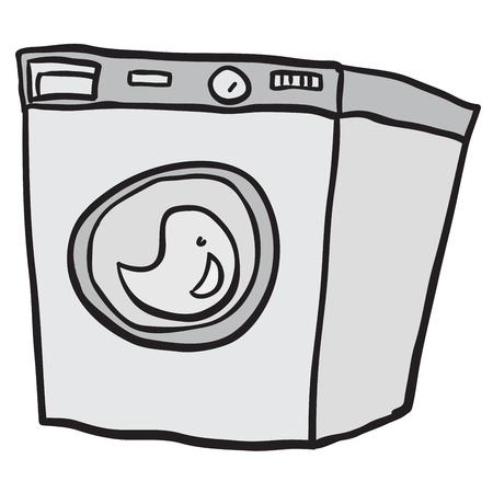 washing machine: washing machine cartoon doodle