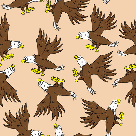 gripping: eagle seamless pattern Illustration