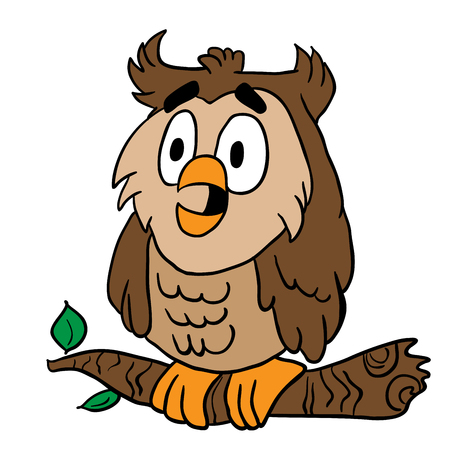owl illustration: owl cartoon illustration Illustration