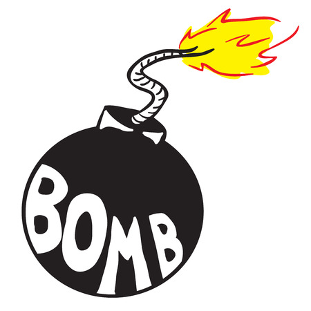 bomb: cartoon bomb