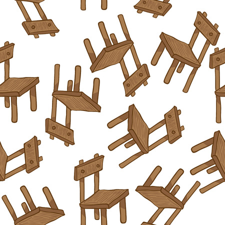 wooden chair: wooden chair seamless pattern