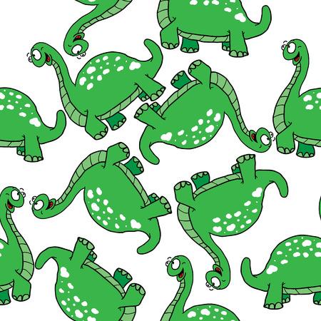 pettifogs: dinosaur seamles pattern Illustration