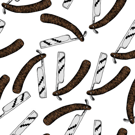 hairstylist: razor seamless pattern
