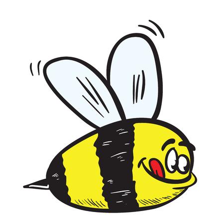 funny looking bee cartoon illustration