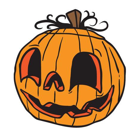 halloween pumpkin cartoon illustration isolated on white Ilustração