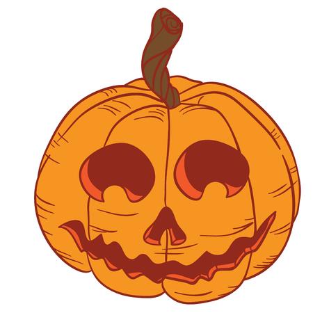 Halloween pumpkin cartoon illustration isolated on white Illustration