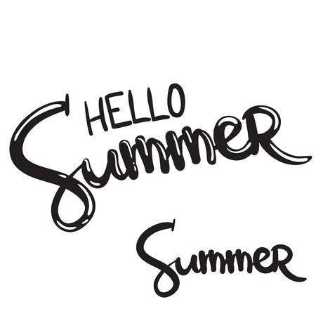 手書きのレタリングフレーズこんにちは夏