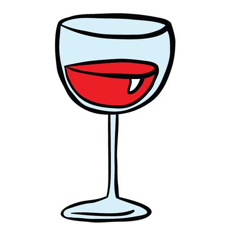 白で隔離ワイングラス漫画のイラスト