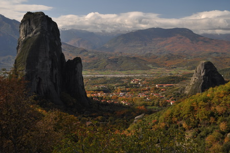 monasteri: Rocks and Meteora Monasteries, Greece