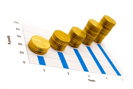 european currency: Profit Stock Photo