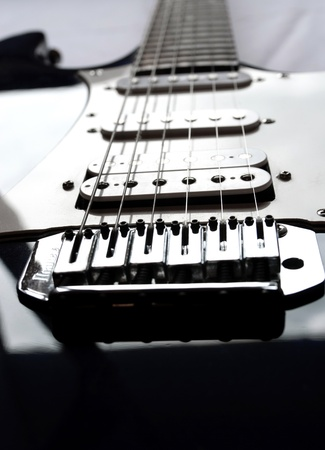 Picture of a vintage, classic electric guitar. Close up. photo