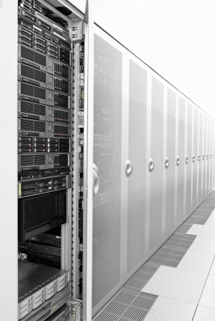 Picture of the server room. One doors are open. Stock Photo - 11808950