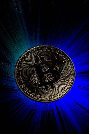 Backlit Bitcoin Coin