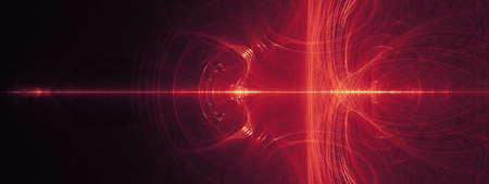 Optical aberrations, laser beam, light rings, light refraction, radiance, glow. 3D illustration, 3D rendering. Stock fotó