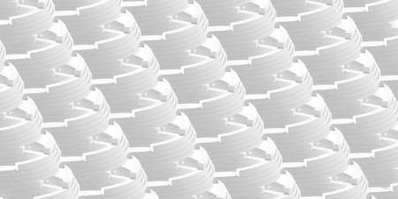 Diagonal ring-shaped simple white abstract pattern. 3D rendering, 3D illustration. 版權商用圖片