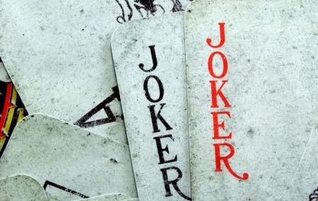joker playing card: playing card                                Stock Photo
