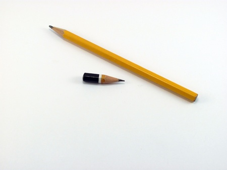 pencil on white background                                photo