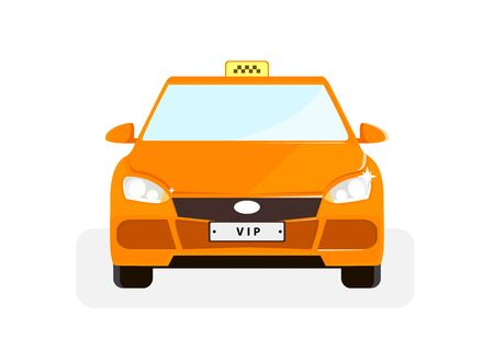 Vip taxi illustration with red point in flat style. Vector illustration design. Foto de archivo - 127311881