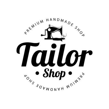 Tailor shop emblem. Vector illustration design.