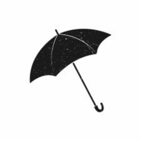 Umbrella icon. Black Umbrella