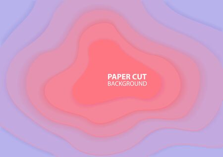 Paper cut abstract background with pastel colors. Realistic relief for design. Origami art. Vector illustration design.