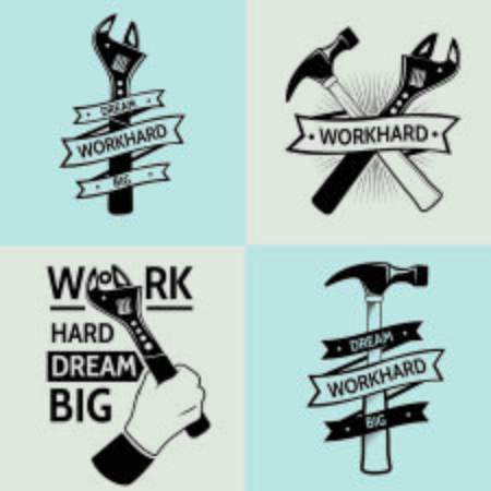 Work hard dream big .vintage tooling. work hard . Working tools