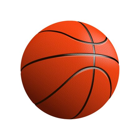 Basketball ball isolated on white photo-realistic vector illustration Vektoros illusztráció