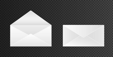Envelopes open and close isolated and realistic