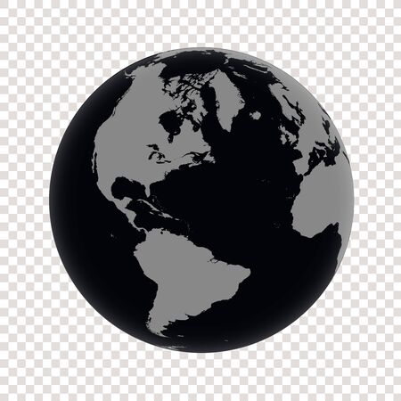 Black Planet Earth isolated Vettoriali