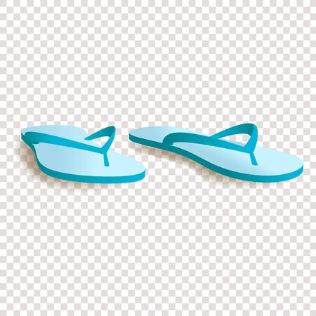 Beach slippers 3d realistic eps 10