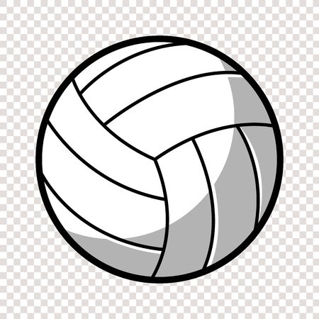 Volleyball ball isolated eps 10