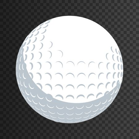 Golf ball isolated eps 10 template