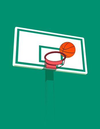 basketball 3d hoop and ball stylized