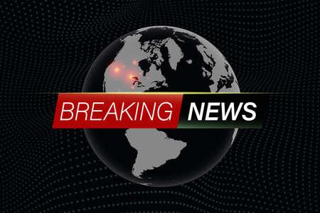 Black breaking news background nowdays