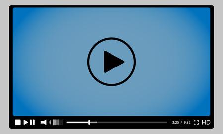 jugar: Reproductor de vídeo para la web. vectoriales