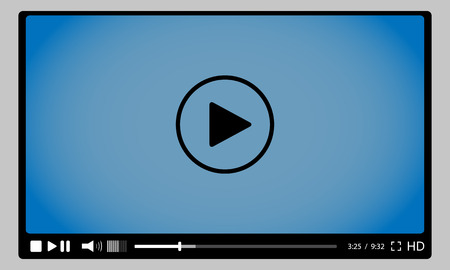 button: Video player for web. stock vector