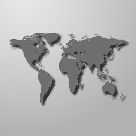 digital world: Image of a vector world map. stock vector