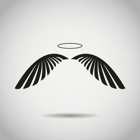 Angel wings. stock vector