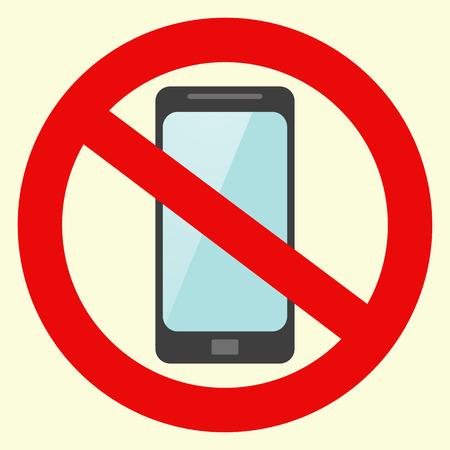 어떤 휴대 전화 기호 벡터 없습니다. 재고 벡터 일러스트