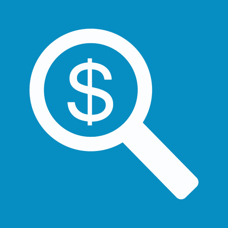 cash flows: dollar sign in the magnifying glass. Stock vector
