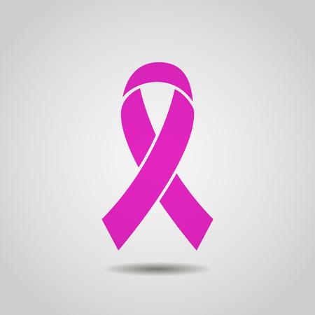 乳房癌意識リボン背景。株式ベクトル